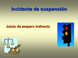 Incidente Suspensión