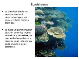 Elementos y Clasificación de los Ecosistemas