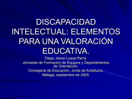 Discapacidad intelectual. Elementos de valoración