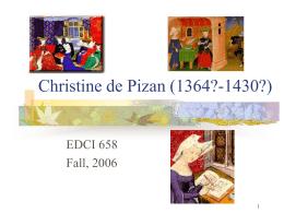 Christine de Pizan (1364?
