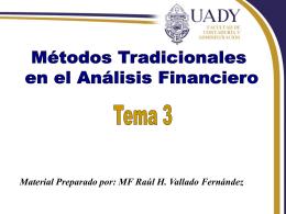 Métodos Tradicionales en el Análisis Financiero