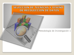 Métodos de recolección de datos