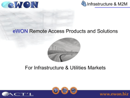 Introducing eWON applications to the field