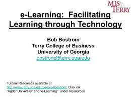 Blended learning - Terry College of Business