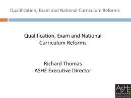 Qualification, Exam and National Curriculum