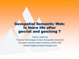 PowerPoint Presentation - Geospatial Ontologies &
