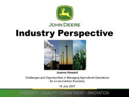 Industry Perspective - American Farmland Trust: