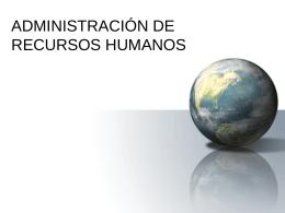 ADMINISTRACIÓN DE PERSONAL: