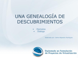 Estructura de la presentación (agenda)