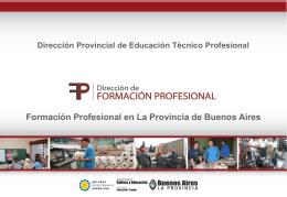 Formación Profesional en La Provincia de Buenos