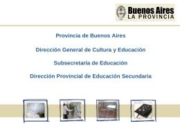 Provincia de Buenos Aires Dirección General de