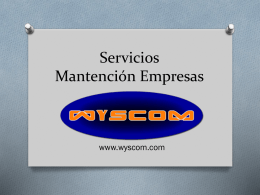 Servicios Mantención Empresas