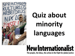 Quiz about minority languages