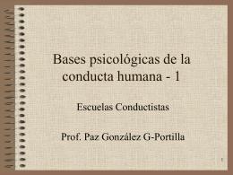 Bases psicológicas de la conducta humana