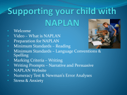 Preparing for NAPLAN at Home - Home