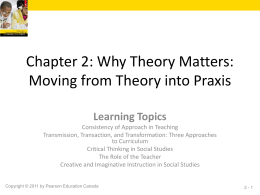 Chapter 2: Why Theory Matters: Moving from Theory