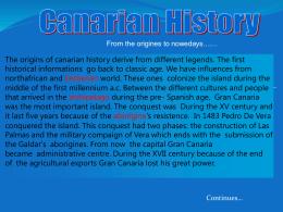 Historia de Las Canarias - EST