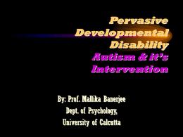 Language Impairment in Autism