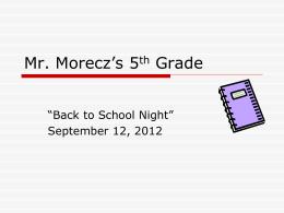 Mr. Morecz's 5th Grade