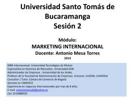 Diplomado Gerencia Integral Módulo: Entorno y