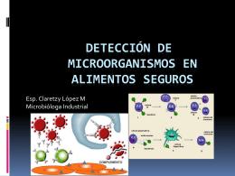 Detección de microorganismos en alimentos seguros