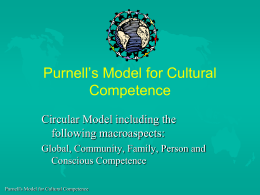 Purnell`s Model for Cultural Competence