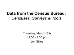 Data from the Census Bureau: Censuses, Surveys &