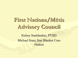 First Nations/Métis Advisory Council -