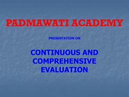 CCE - Padmawati Academy