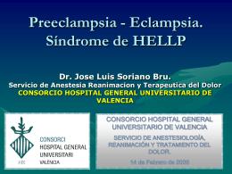 Preeclampsia - Eclampsia. Síndrome de HELLP