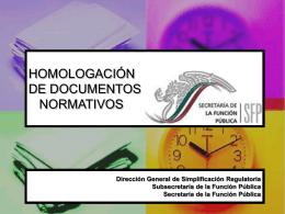 HOMOLOGACIÓN NORMATIVA