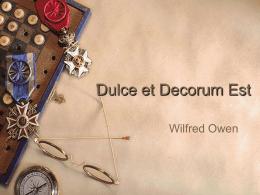 Dulce et Decorum Est - Amazon Web Services