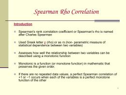 Spearman's Rho - WordPress.com