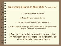 """Universidad Rural Sin Fronteras """"su razón de ser"""""""