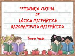 SEMINARIO VIRTUAL DE LÓGICO MATEMÁTICA