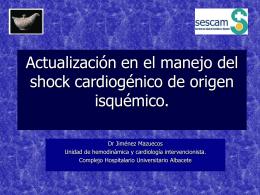 Shock cardiogénico - Complejo Hospitalario