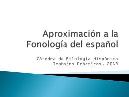 Diapositiva 1 - Filología Hispánica | Cátedra de