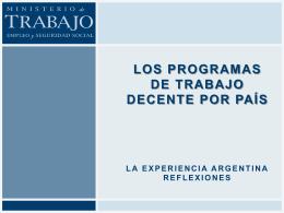Los Programas de Trabajo Decente por país La