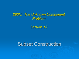 290N: The Unknown Component Problem