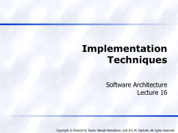 Implementation Techniques - University of Southern