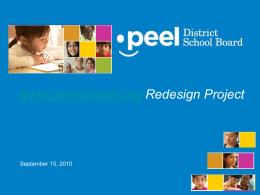 Presentation Title - Peel District School Board