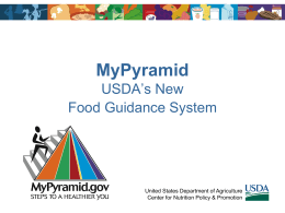 "New""trition: the Revised Food Guidance System"