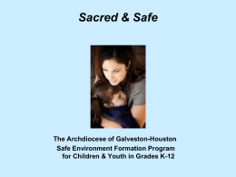 Sacred & Safe A Safe Environment Formation Program