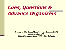 Cues-Questions Language Arts PowerPoint