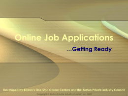 Online Job Applications
