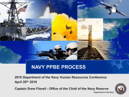 Navy Budget PPBE System