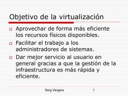 Virtualización en el CPD