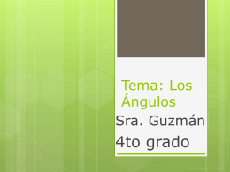 Tema: Ángulos