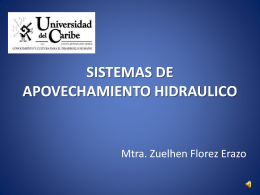 SISTEMAS DE APOVECHAMIENTO HIDRAULICO