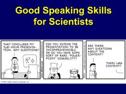 Communication Skills for Scientists